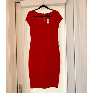Express Red Sheath Dress